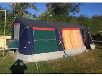 trailer tent.. 5 berth. 6.95/4.5 M awning kitchen cooker sink toilet & extras included.