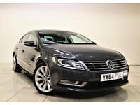 VOLKSWAGEN CC 2.0 GT TDI BLUEMOTION TECHNOLOGY 4d 138 BHP + 1 OWNER + SAT NAV + B/T + LEATHER 2015