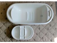 Mothercare Baby Bath with top 'n tail bowl.
