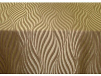 7mtrs Tulie Linen Jacquard Curtain / Uphostery Fabric.