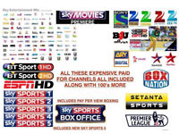 MAG BOX HD BOX WITH 1 YR FULL LINE CABLE BOX VM . SKYBOX OPENBOX T9
