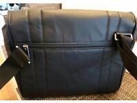 "Knomo Saxby Messenger Bag - Black - 11"". New"