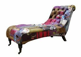 Spectacular NEW Patchwork Chaise