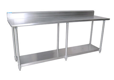 Bk Resources 96w X 30d 16 Gauge Stainless Steel Work Table W 5 Riser