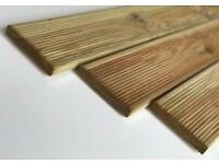 3x treated garden decking boards 2.4m (120x20mm) £9.00