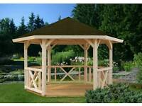 Barrgain Wooden gazebo £800.free delivery and free installation 2 years warranty.