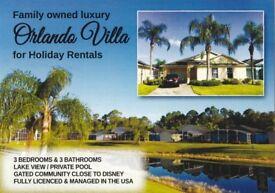 ORLANDO FLORIDA ,DISNEY AREA VILLA , FOR HOLIDAY RENTALS, UK FAMILY OWNED