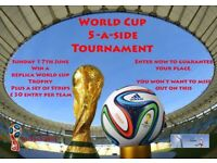 World cup 5 a side football tournament at soccerworld newcastle 17-6-18