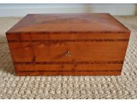 Handmade Solid Wood Wooden Lockable Jewellery Box