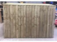 Feather Edge Straight Top Tanalised Wooden Fence Panels 🌳