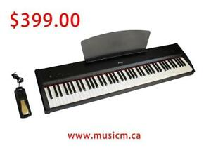 Digital Piano 88 Fully Weighted Keys Keyboard 3 Pedal Stand Refurbished/Brand New With Warranty www.musicm.ca