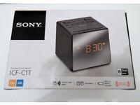 Sony ICF-C1T FM/AM Dual Alarm Clock Radio with Mirror Finish - Black