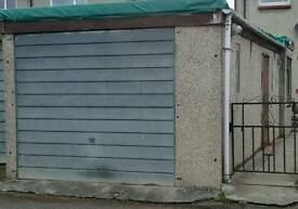 Marley concrete sectional garage.