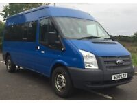 FORD TRANSIT 350 MINIBUS 14 SEATER, *NO VAT* 2.2 TDCi 350L Medium Roof Diesel Manual RWD LWB*NO VAT*