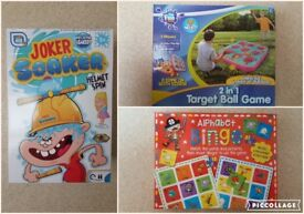 *NEW* 3 Kids toys/games Joker Soaker, 2in1 Target Ball game & Alphabet Bingo