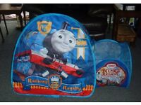 4 THOMAS THE TANK ENGINE PLAY TENTS - IDEAL FOR PLAYING IN THE GARDEN - FOLDS FLAT FOR STORAGE