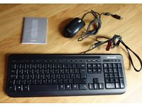 Microsoft Optical Mouse & Keyboard, USB Wired , Black - Exc. Cond