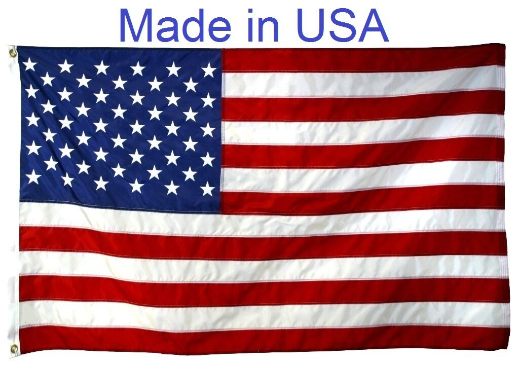 US Flag Factory 3'x5' American Flag Outdoor Nylon SEWN Strip