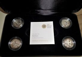 2010 & 2011 *CAPITAL CITIES* FOUR £1 SET .925 SILVER PROOF - IN MINT CONDITION