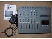 Fostex XR-7 vintage analog Multitracker 2x speed 4 track cassette recorder and mixer with 6 inputs