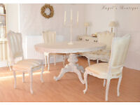 *** GREAT DEAL *** !! WOW !! French Antique Shabby Chic Dining table with Four Chairs !!!