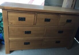 Oak sideboard chest of drawers 3 over 4