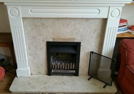 Large Solid Mahogany Fire Surround