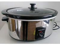 Large Morphy Richards 48715 6.5L Slow Cooker