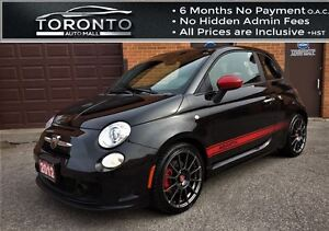 2012 Fiat 500 ABARTH+5 SPEED+RED LEATHER SEATS+6 Discchanger