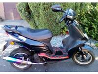 2010 BOATION 50CC Learner Legal Scooter TWIST & GO MOPED Sports Exhaust GOOD CONDITION