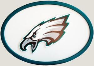 Philadelphia Eagles 46 Inch Oval Wooden Wall Sign (New)