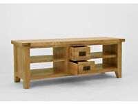 Oak tv unit well built, good quality piece of furniture (television unit cabinet widescreen)