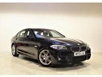 BMW 5 SERIES 2.0 520D M SPORT 4d 181 BHP + 2 PREV OWNER + SERVICE HISTORY (black) 2013