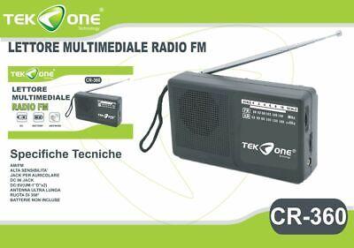 Radio Portatile TeKone Cr-360 3 Bande Am Fm Sw1 Radiolina hsb segunda mano  Embacar hacia Argentina