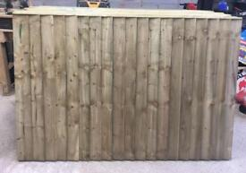 Straight top Tanalised heavy duty fence panels
