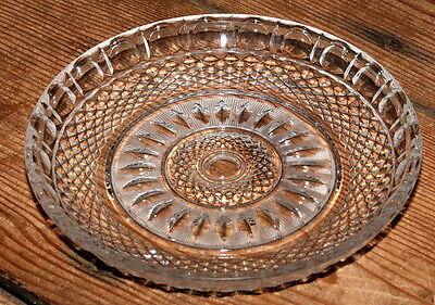 Obstschale Lausitzer Bleiglas Bleikristall transparent Bleiglasschale rund