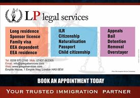 Immigration Service- Tier 1, Tier 2, ILR, Appeal, Bail, Detention, EEA PR, Family Visa...