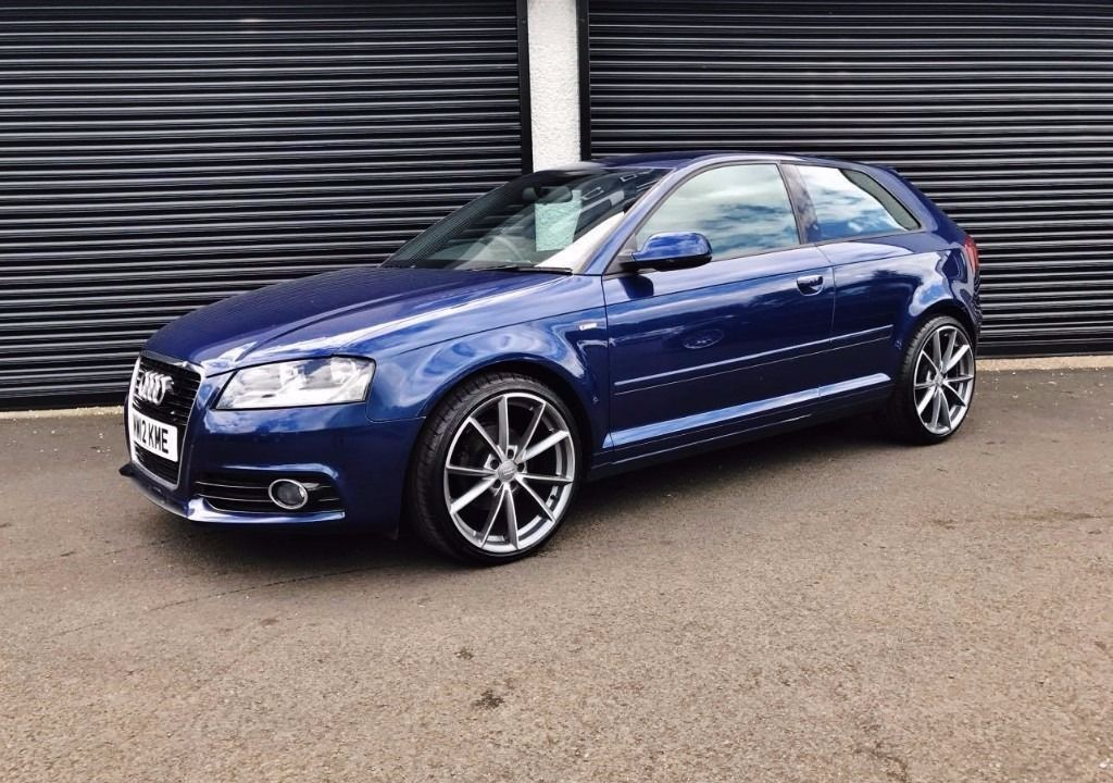 2012 audi a3 s line 2 0 tdi 140 3 door only 15k miles scuba blue stunning car in. Black Bedroom Furniture Sets. Home Design Ideas