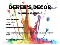 Painter and decorator, internal & external, free quotes, competitive prices, 10% senior discount