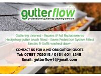Guttering Cleaning & uPVC Washing