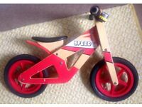 "German-made, wooden balance bike ""5peed"" in good condition"
