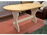 Solid Pine Farmhouse Refectory Dining Table**FREE LOCAL DELIVERY**Cream Kitchen Chic Shabby(oak)