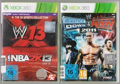 Smack Down VS Raw 2011 11 + W'13 W13 & NBA 2K13 Basketball Xbox 360 Spiele