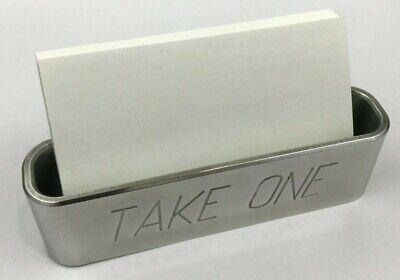 Business Card Holder Billet Aluminum Engraved Take One