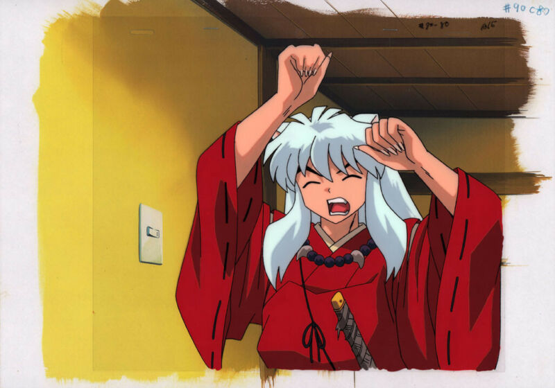 InuYasha Inu Yasha Anime Production Cel Douga BG Animation Ep.90 Takahashi