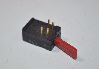 Cole Hersee Vintage Nos Blackred Mini Toggle Switch Patent 3571545 70s 80s