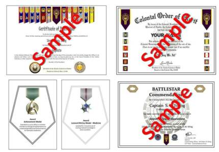 Customised / Personalised Certificates - Any Design Gordon Moorabool Area Preview