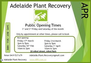 Adelaide Plant Recovery sale yard opening time and weekly specials Athol Park Charles Sturt Area Preview
