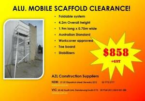 Aluminium Mobile Tower! 4~7m High,1.9m~2.5m long. from $858!  Warranty Revesby Bankstown Area Preview
