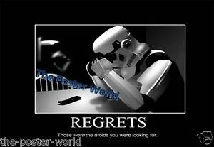 Star Wars Storm Trooper Funny Quote Picture Poster Wall Art Print new